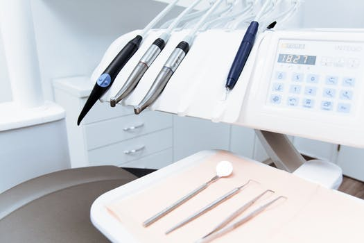 orthodontist and dental equipment